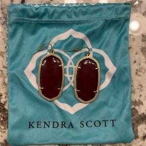 Maroon Kendra Scott earrings